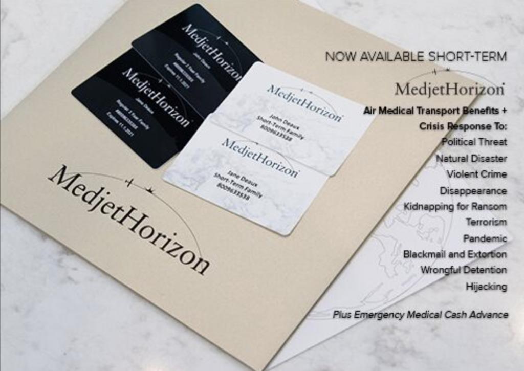 Metjet Horizon membership packet