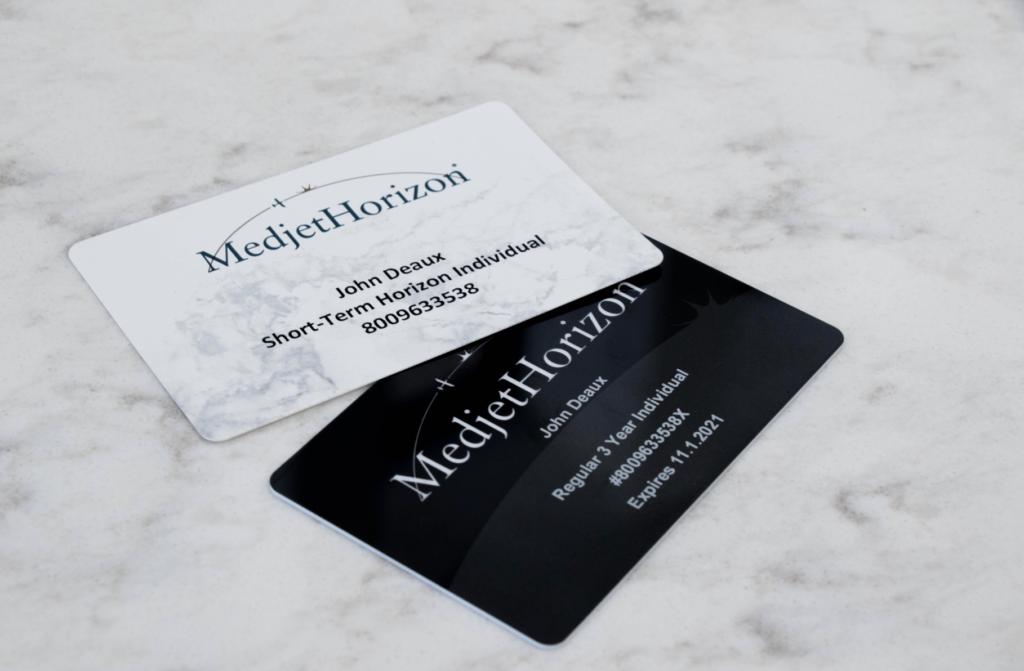 Metjet Horizon membership card