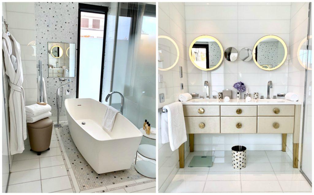 Mandarin Oriental Paris suite bathroom