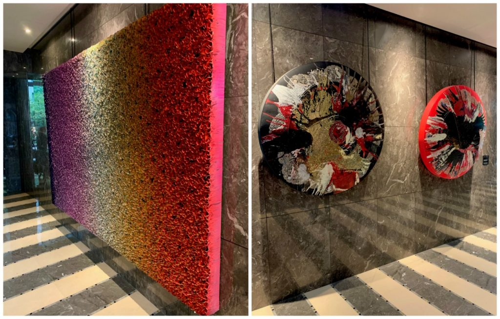 art walls at the Mandarin Oriental Paris