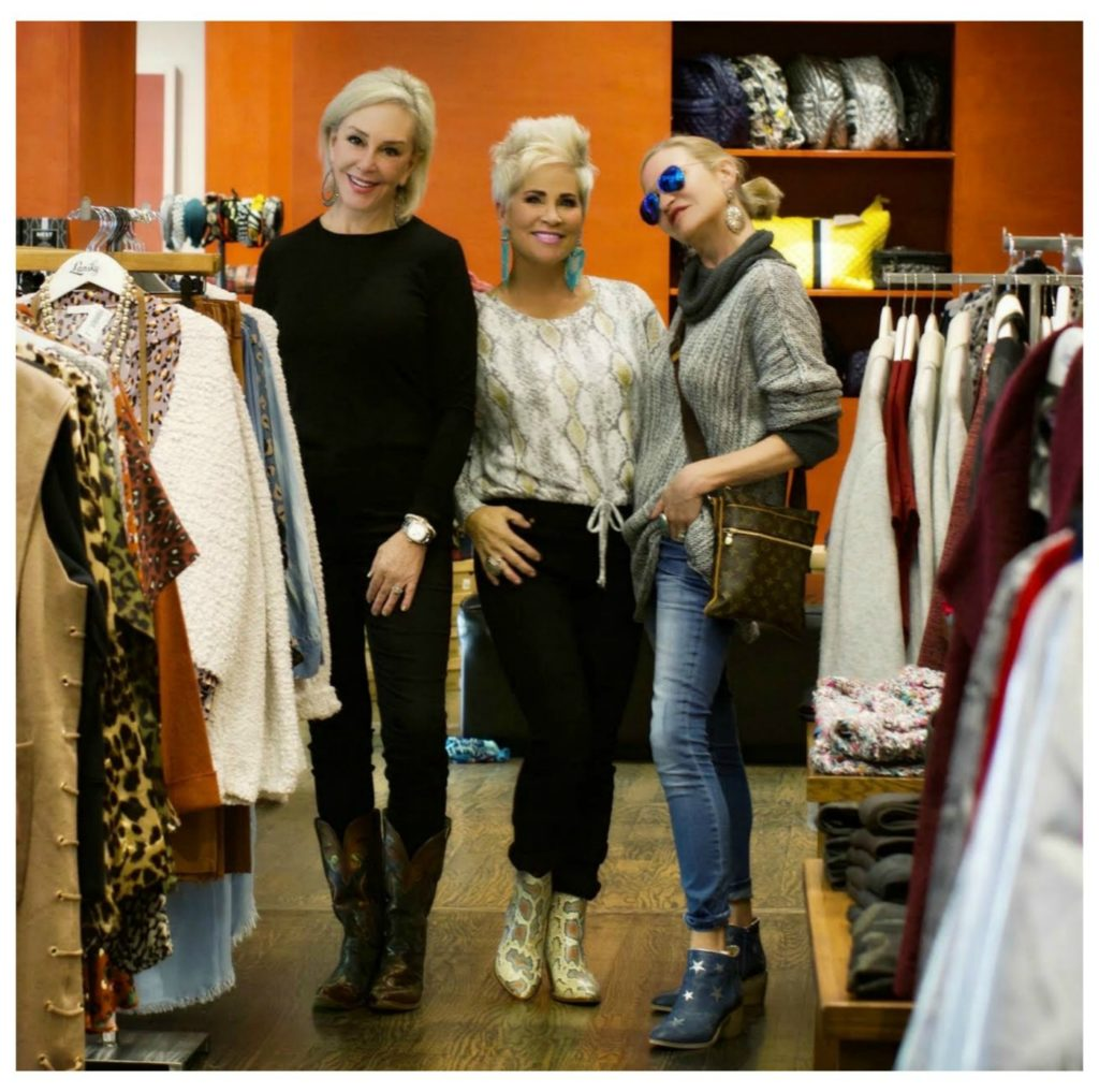 SheShe, Shauna & Jamie shopping in Lanskey's boutique