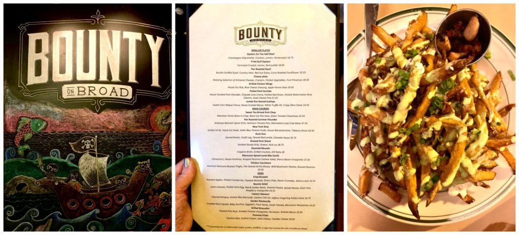 Bounty Restaurant menu