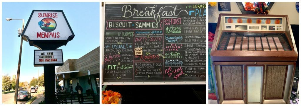 Breakfast menu written on chalk board