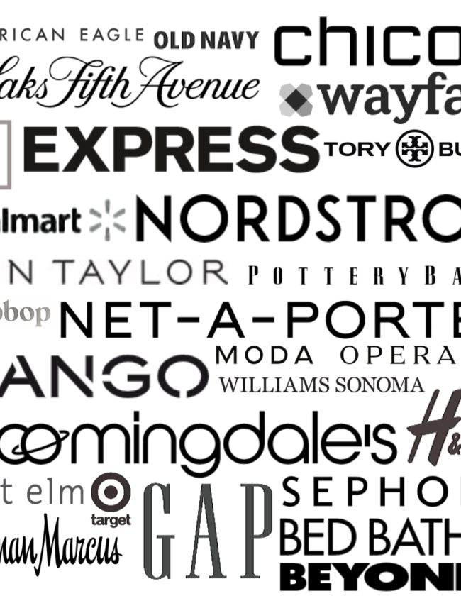 Banner Text of major retailers