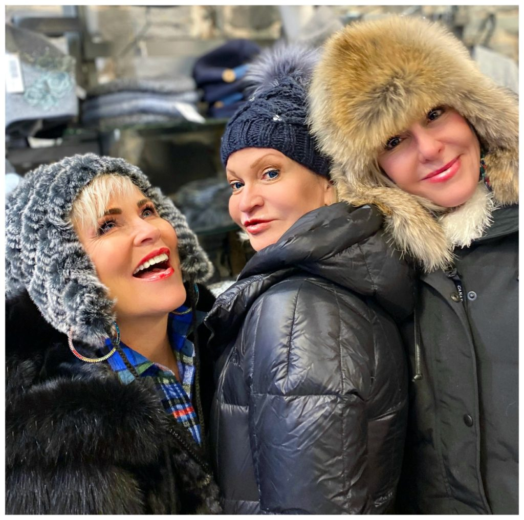 Shauna, Jamie and SheShe wearing fun fur winter hats