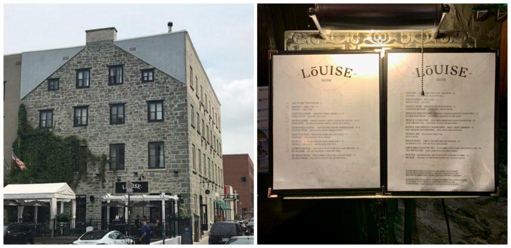 Louise Tavern & Bar a Vin and menu