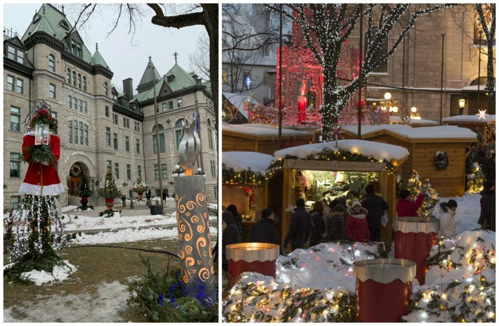 photo of central Old Quebec City, German Christmas market