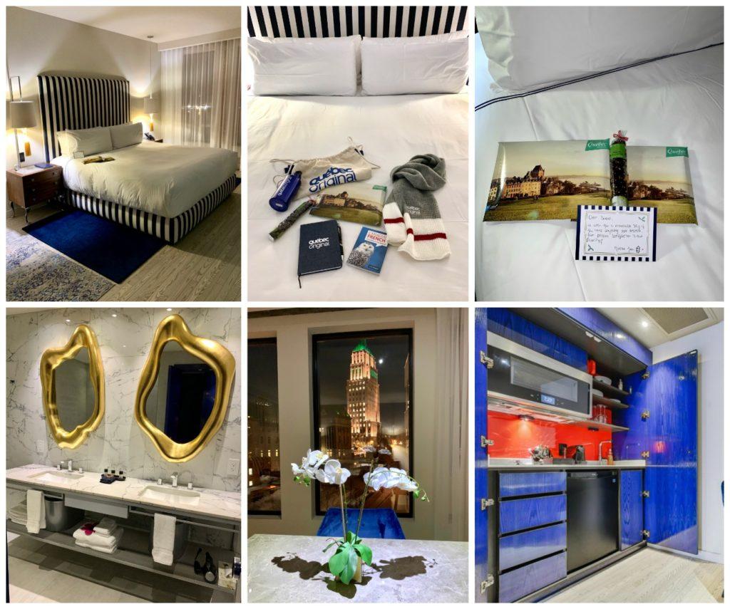 4 photos of hotel rooms inside Monsieur Jean Hotel Quecbec City