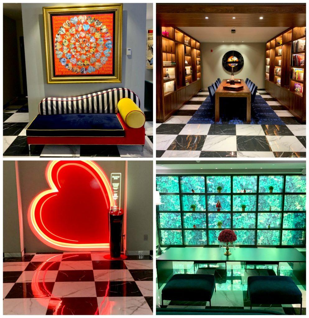 4 photos of Monsieur Jean lobby area Hotel Quecbec City
