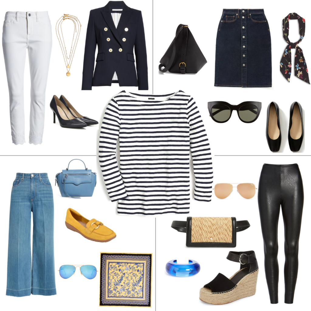 4 ways to wear a Stripe top