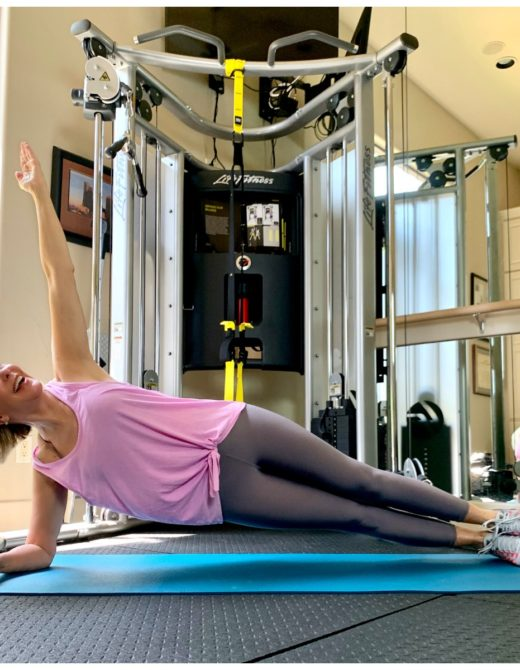 Sheree Frede of the SheShe Show in a pilates move