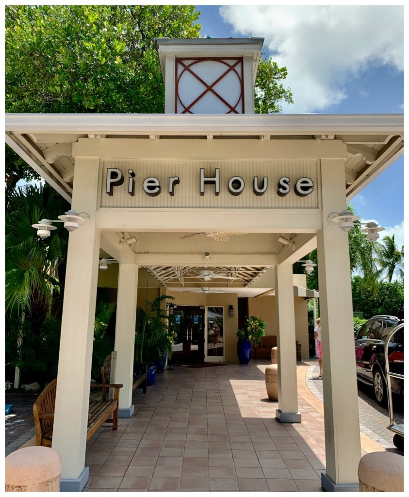 Front entrance of the Pier House Spa & Resort in Key West, FLA
