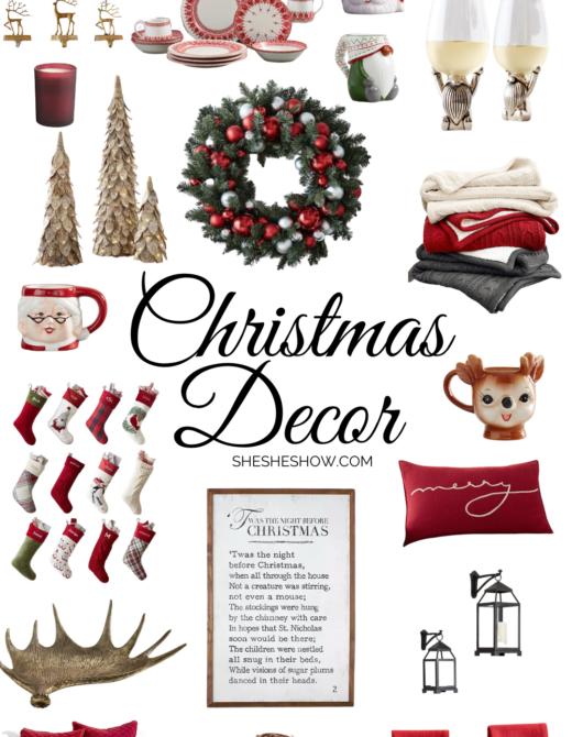 Collage of Christmas Decor