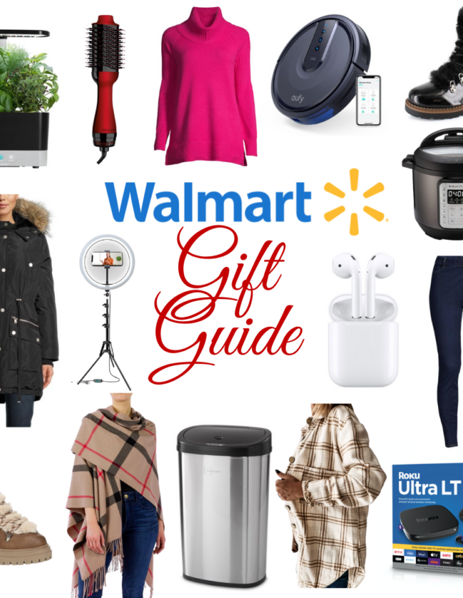 Walmart gift guide collage of products