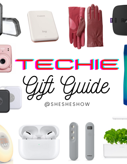 Collage of gifts for the techie