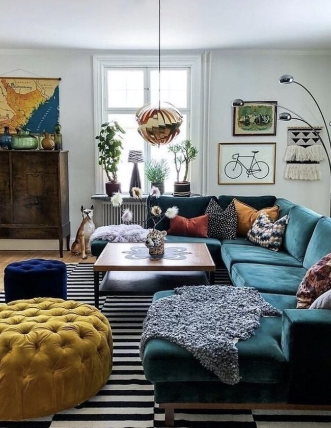 Photo of living room with home decor trends