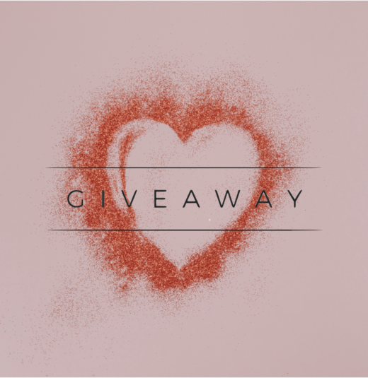 pink Graphic photo with a heart and Giveaway text
