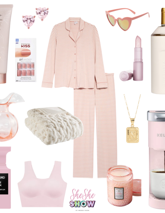 Valentine's day gift guide for her collage of gifts