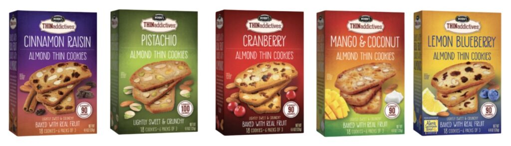 5 Different flavors of Nonni's THINaddictives