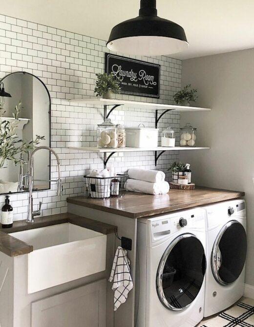 Photo of farm house style laundry room