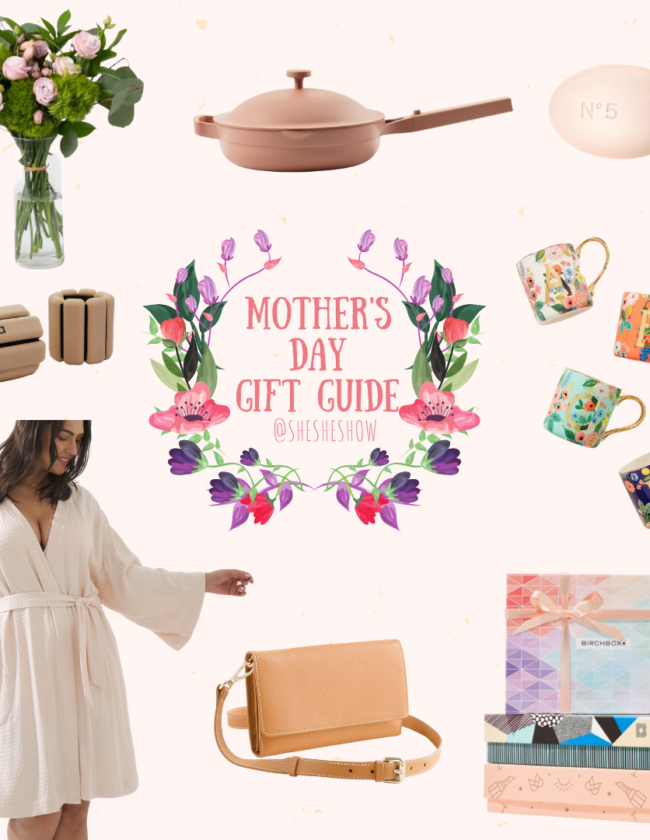 A collage of gifts for Mother's Day gift guide