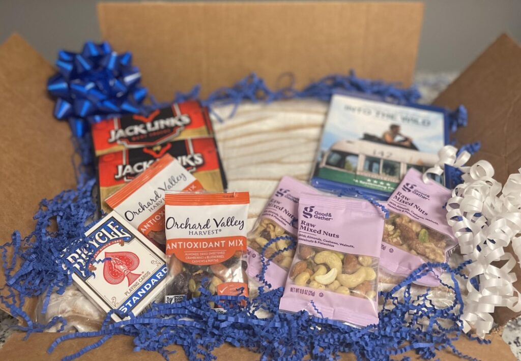 a memorial day care package for soldiers