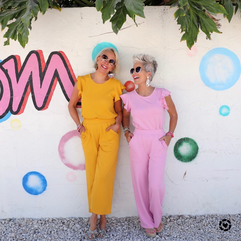 sheree frede and shauna growe in a lilla p set perfect for travel