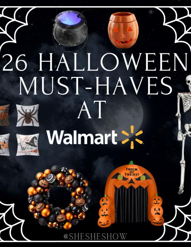 Halloween at walmart collage